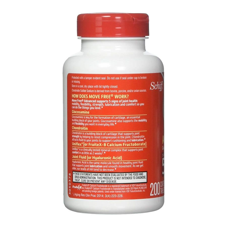 Schiff Move Free Advanced Glucosamina & Condroitina Â- 200 Tabletes
