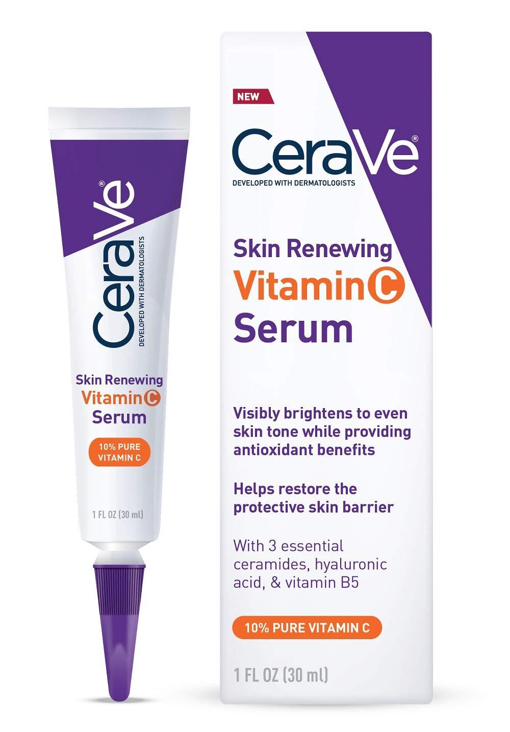 Serum Vitamina C com Acido Hialuronico sem Fragrancia Cerave - 30ml
