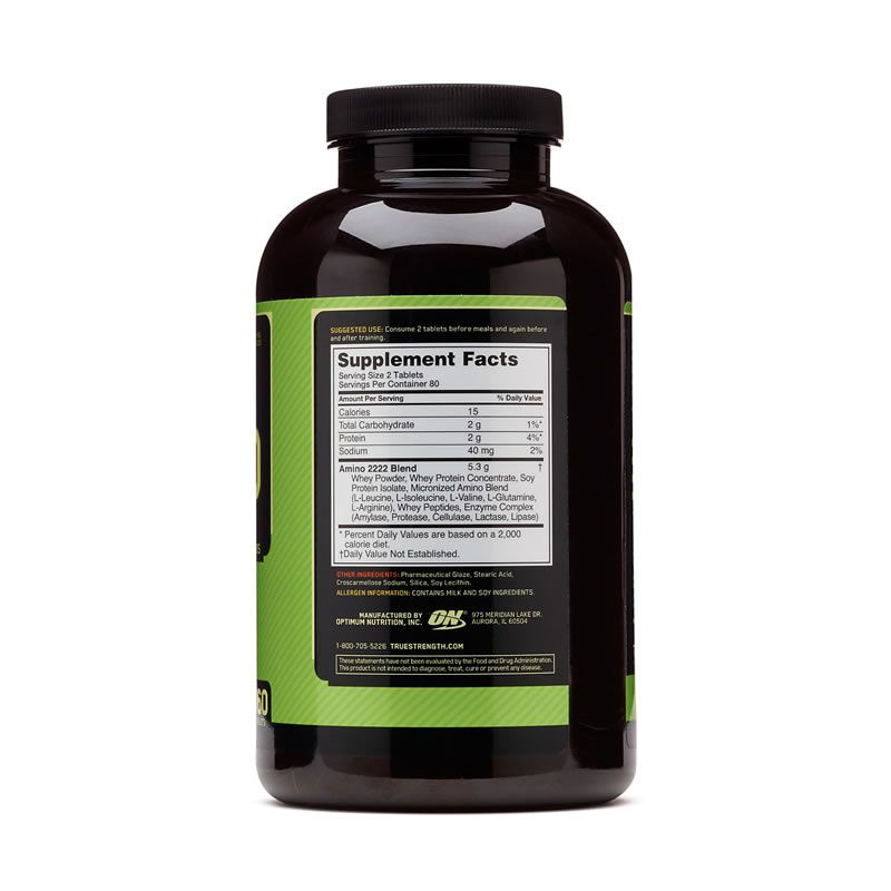 Superior Amino 2222 TABS Optimum Nutrition - 160 Tabletes
