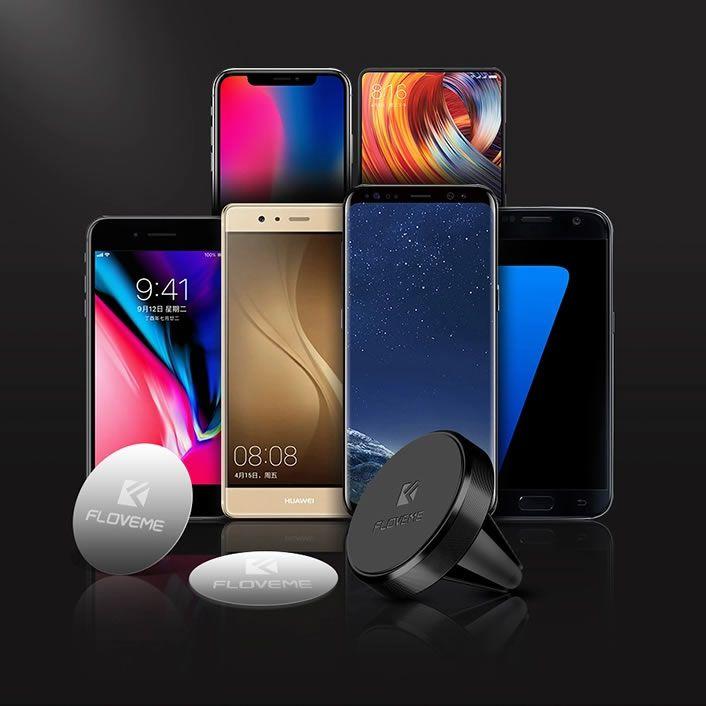 Suporte Veicular Magnético Universal Para Smartphones - Floveme
