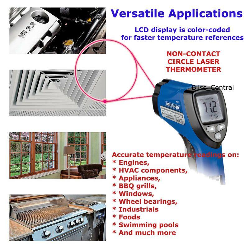 Termômetro Infravermelho Veicular Laser Circular Incoterm 3 Colors - Vaughan