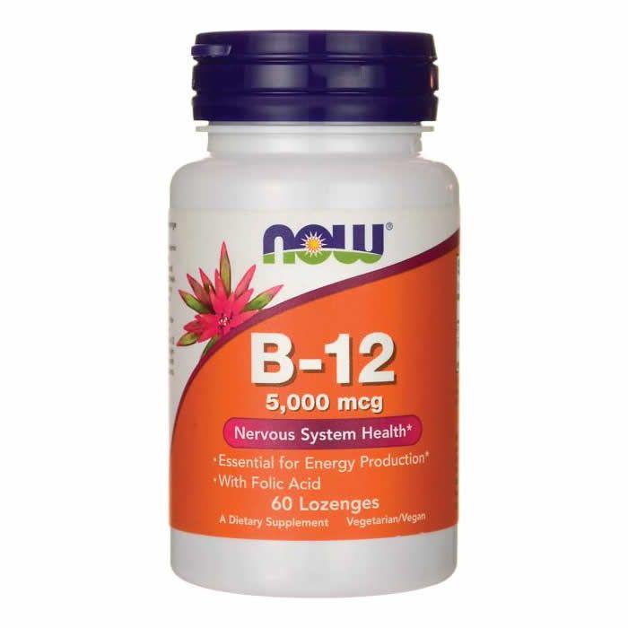 Vitamina B12 Now Food 5000mcg - 60 Cápsulas