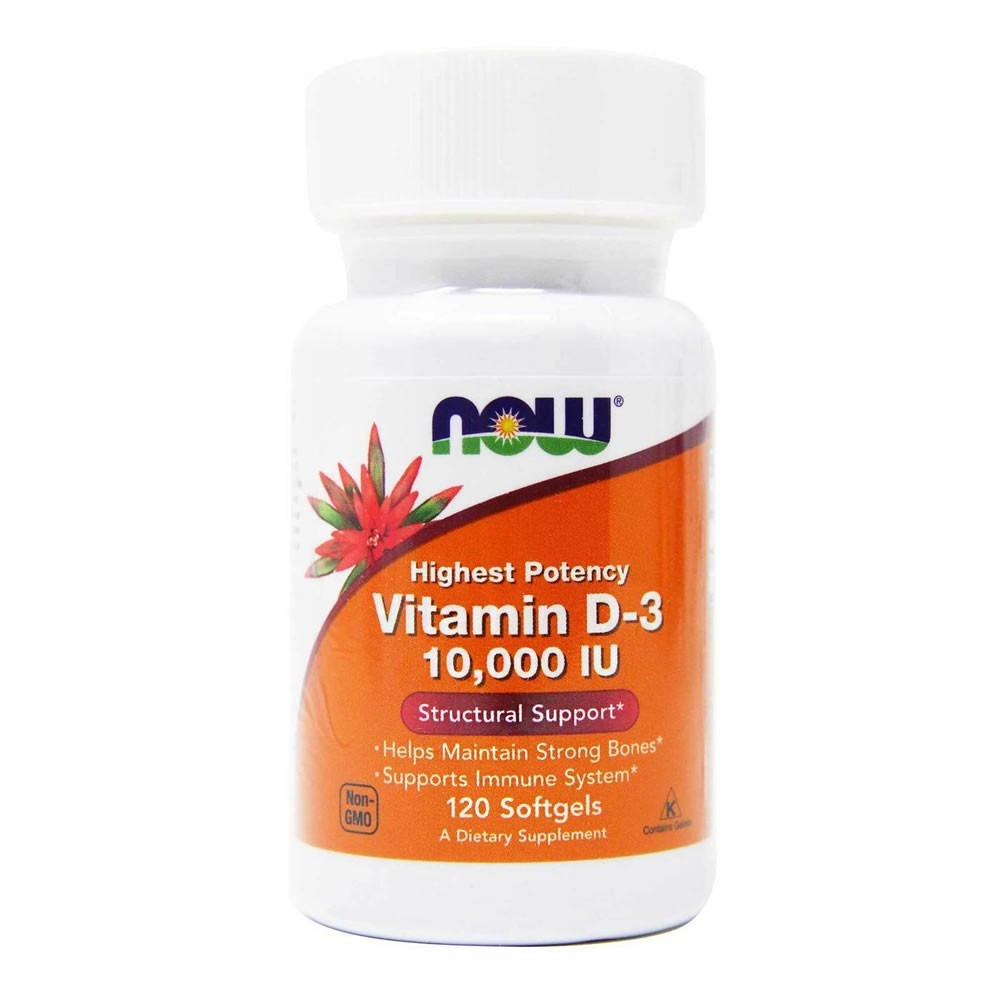 Vitamina D3 10.000 IU 250 mcg Now Food Â- 120 Softgels