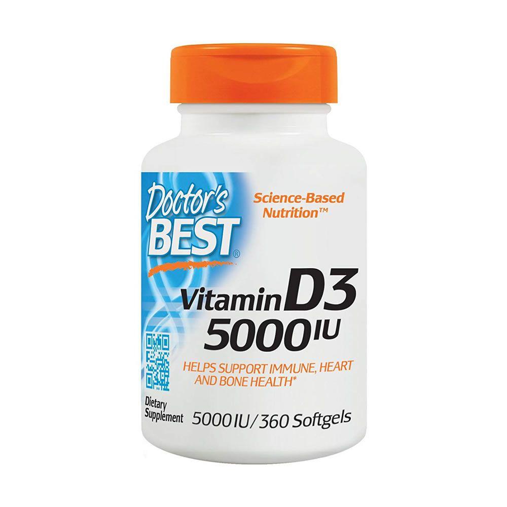 Vitamina D3 5000 IU Doctors Best - 360 Cápsulas