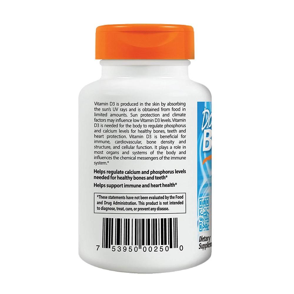 Vitamina D3 5000 Ui Doctor's Best - 360 Cápsulas