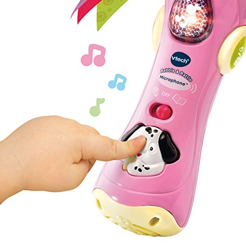 VTech Baby Babble and Rattle Microphone - Rosa