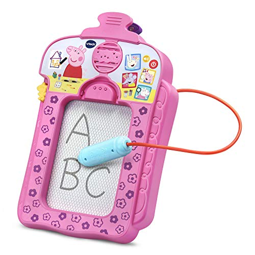 VTech Peppa Pig Scribbles and Sounds Doodle Board - Rosa