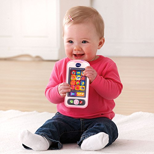VTech Touch and Swipe Baby Phone - Rosa