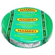Fio Flexível 4mm Verde Nambei Rolo c/ 100m