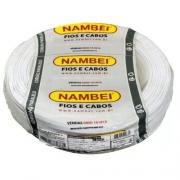 Fio Flexível 6mm Branco Nambei Rolo c/ 100m