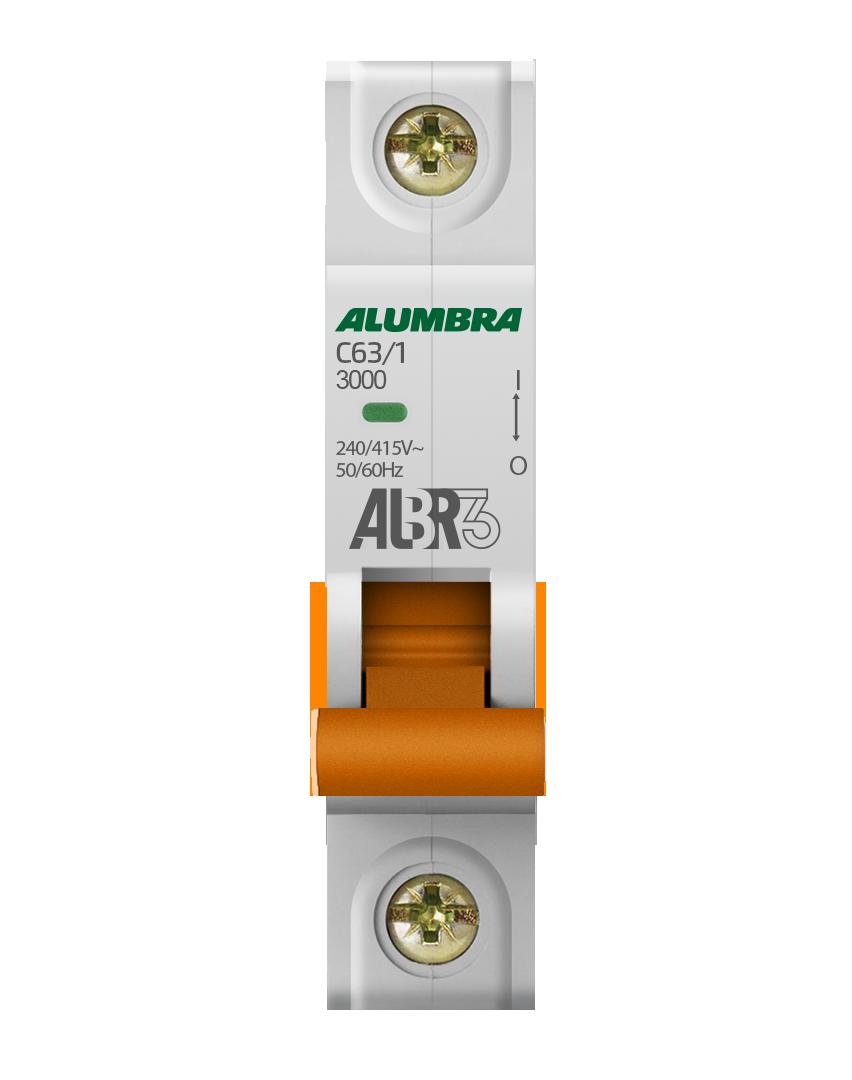 Disjuntor 1X63A Din Curva C - Alumbra