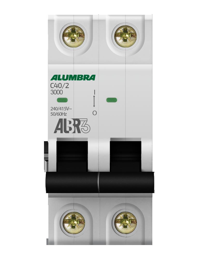 Disjuntor 2X40A Din Curva C - Alumbra