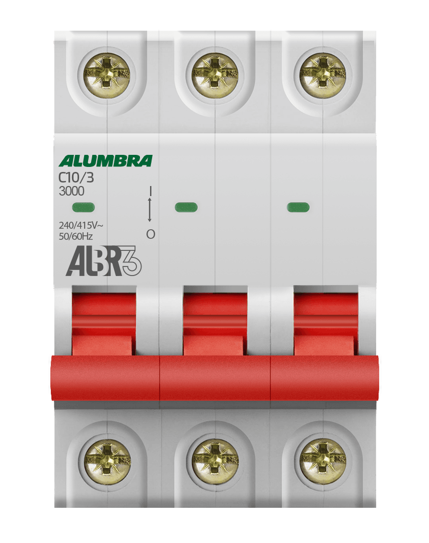Disjuntor 3X10 Din Curva C - Alumbra