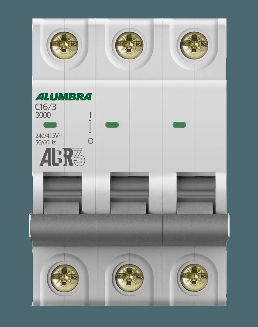 Disjuntor 3X16A Din Curva C - Alumbra