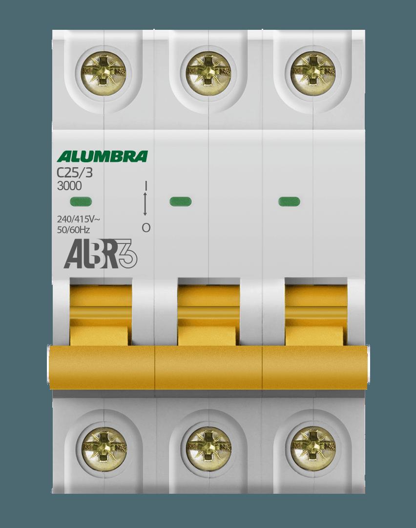 Disjuntor 3X25A Din Curva C - Alumbra