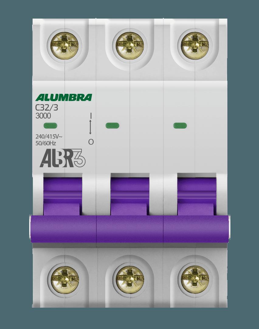 Disjuntor 3X32A Din Curva C - Alumbra