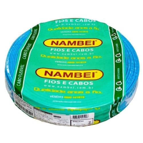 Fio Flexível 1,5mm Azul Nambei Rolo c/ 100m