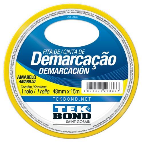FITA DE DEMARCACAO AMARELA 48MMX15M TEKBOND