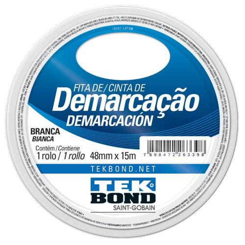 FITA DE DEMARCACAO BRANCA 48MMX15M TEKBOND