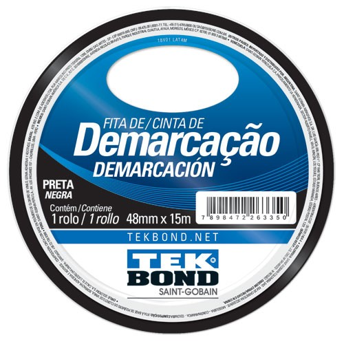 FITA DE DEMARCACAO PRETA 48MMX15M TEKBOND