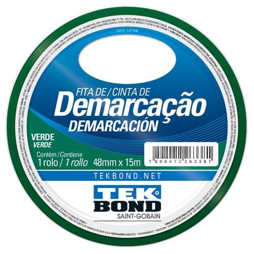 FITA DE DEMARCACAO VERDE 48MMX15M TEKBOND