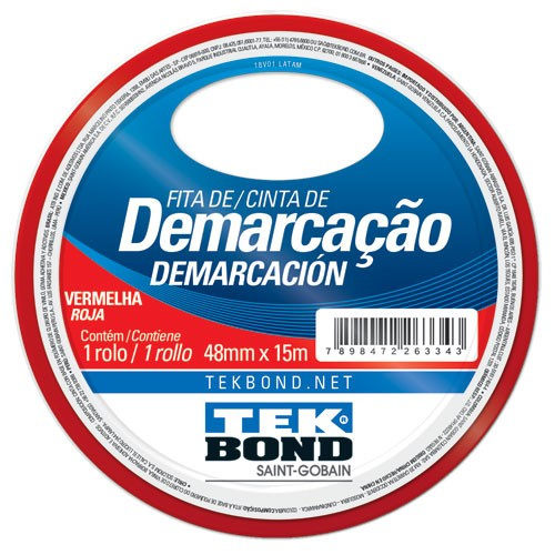 FITA DE DEMARCACAO VERMELHA 48MMX15M TEKBOND