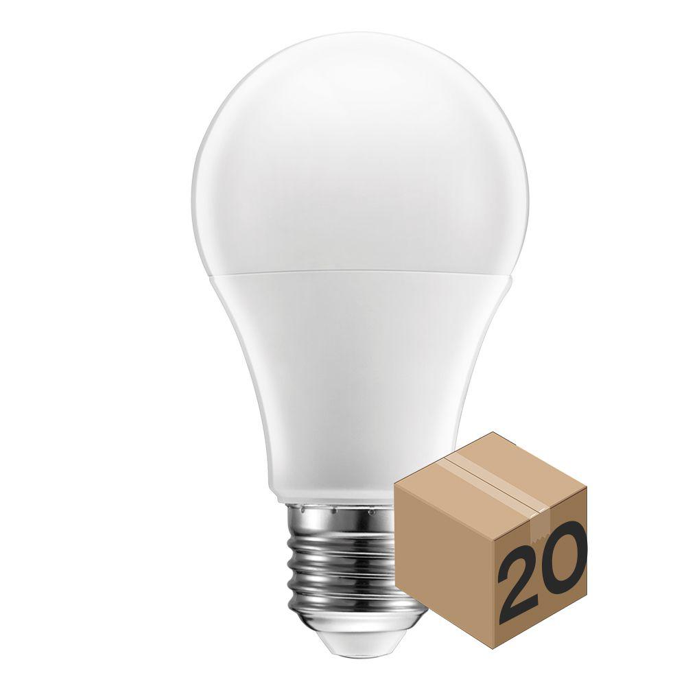 Kit 10 Lâmpada Led Bulbo 9W A60 Bivolt Branco Quente