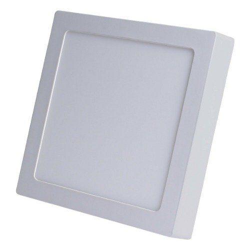 Kit 10 Luminaria Plafon Led Quadrada de Sobrepor Branco Frio 18W