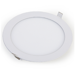 Kit 10 Luminaria Plafon Led Redondo de Embutir Branco Quente 18W