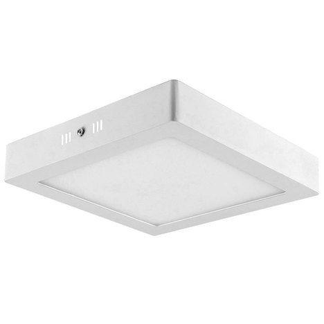 Kit 30 Luminaria Plafon Led Quadrada de Sobrepor Branco Frio 6W