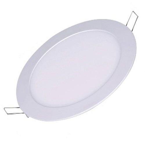 Kit 6 Luminaria Plafon Led Redondo de Embutir Branco Frio 18W