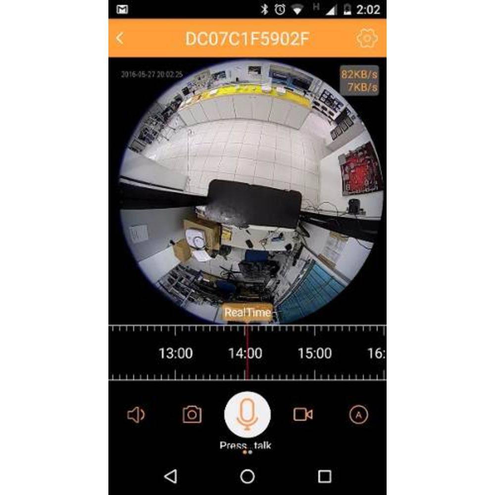 Lâmpada Espiã com Câmera 360º - Wifi - Microfone e Alto Falante - Grava em HD