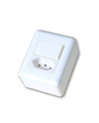Tomada 1 + Interruptor 1 Tecla Simples 10A HOME OVERLAP - BLUX