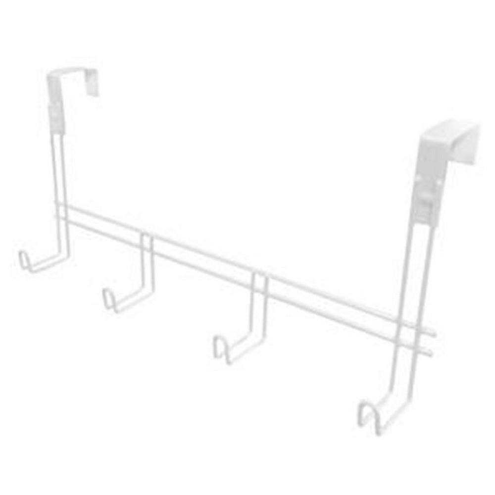Cabide Metaltru M14601/1 com 4 Ganchos Branco