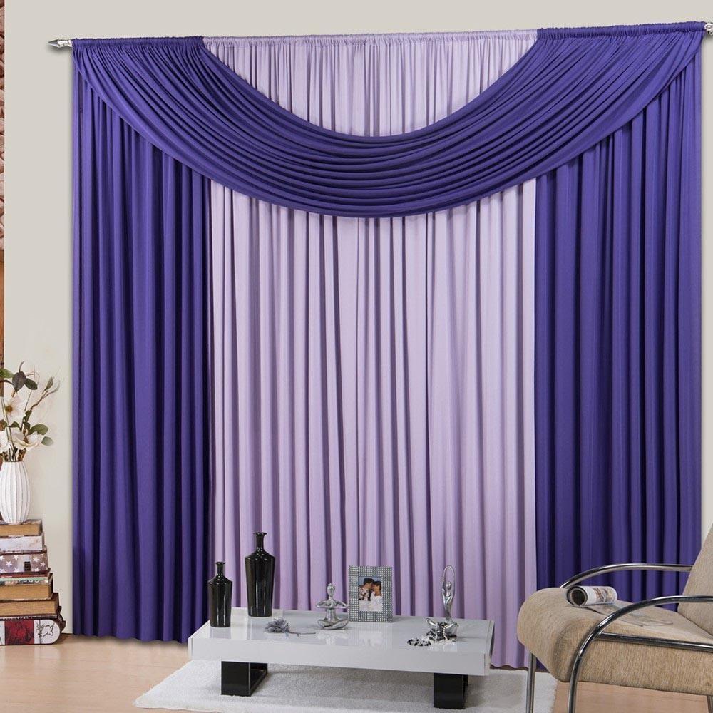 Cortina Sala ou Quarto Purple Soft Clean 300x280cm Casa Dona