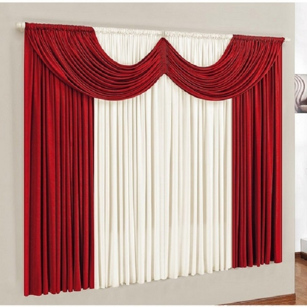 Cortina Sala ou Quarto Soft Dark Red 400x280cm Casa Dona