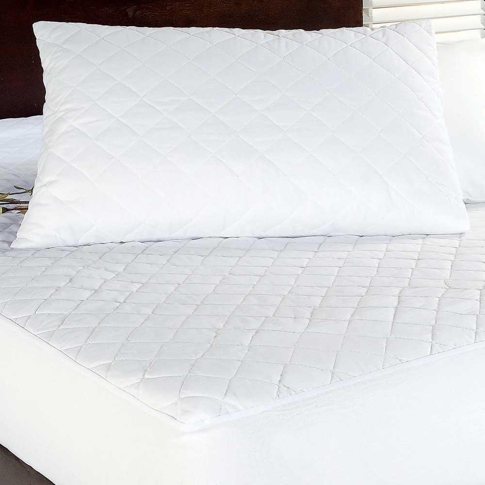 Porta Travesseiro Impermeável  50X70 Housen  Branco Casa Dona
