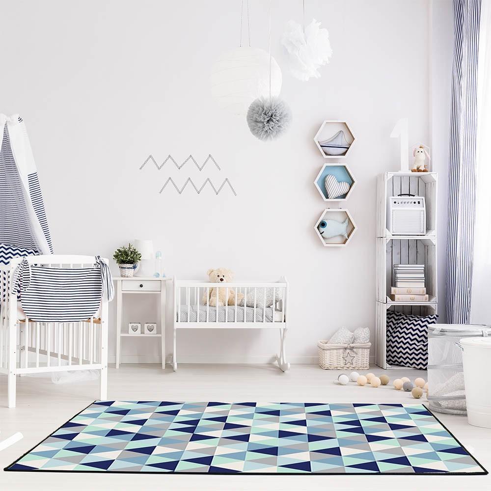 Tapete Mosaico 100x140cm 3D Antiderrapante Sua Casa Elegante Moderno Color Sala e Quarto Casa Dona