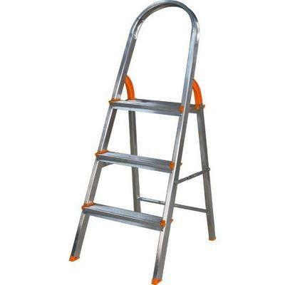 Escada Doméstica Aluminio 3 Degraus Agata