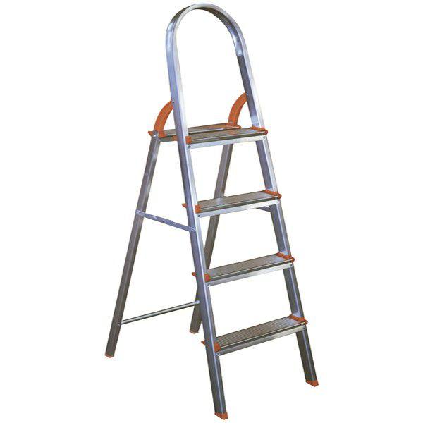 Escada Doméstica Aluminio 4 Degraus Agata