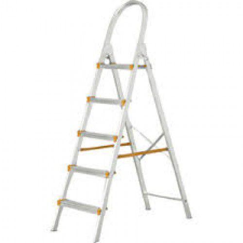 Escada Doméstica Aluminio 5 Degraus Agata