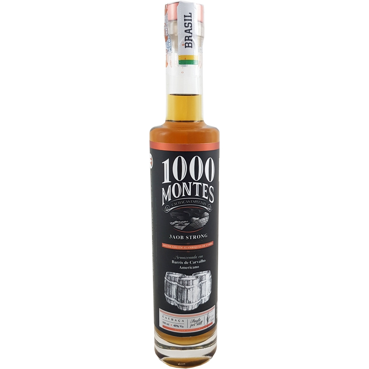 Cachaça 1000 Montes 3AOB Strong 500ml