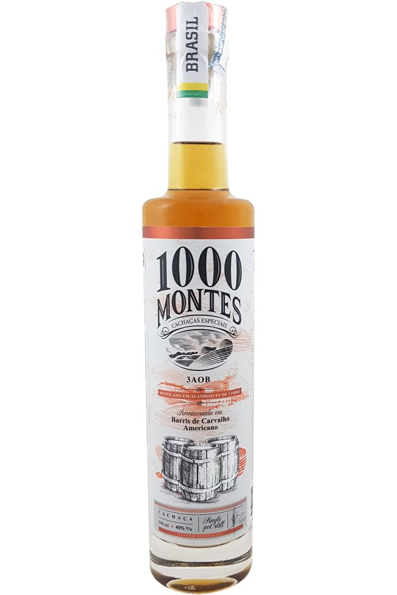 Cachaça 1000 Montes Carvalho 3AOB 500ml