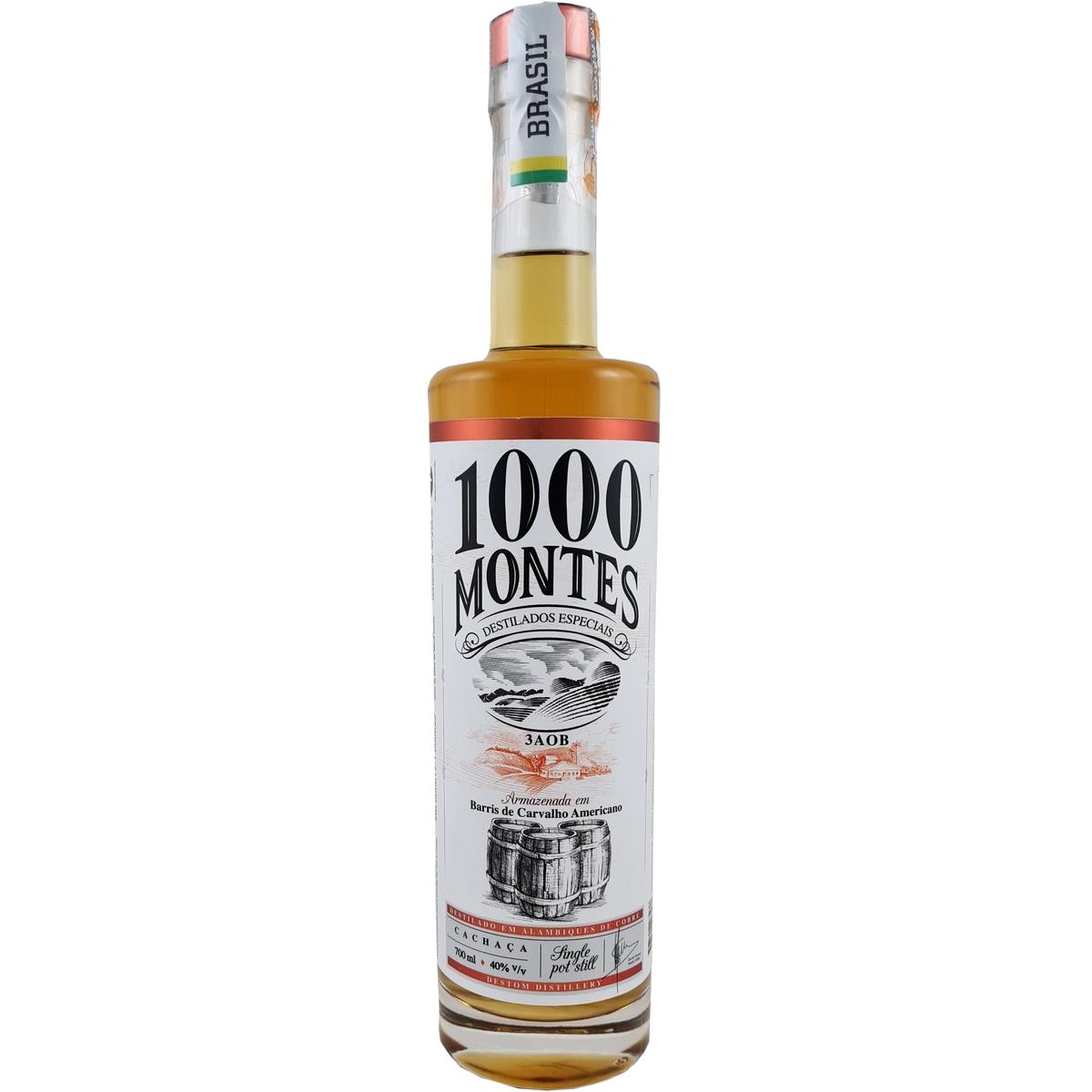 Cachaça 1000 Montes Carvalho 3AOB 700ml