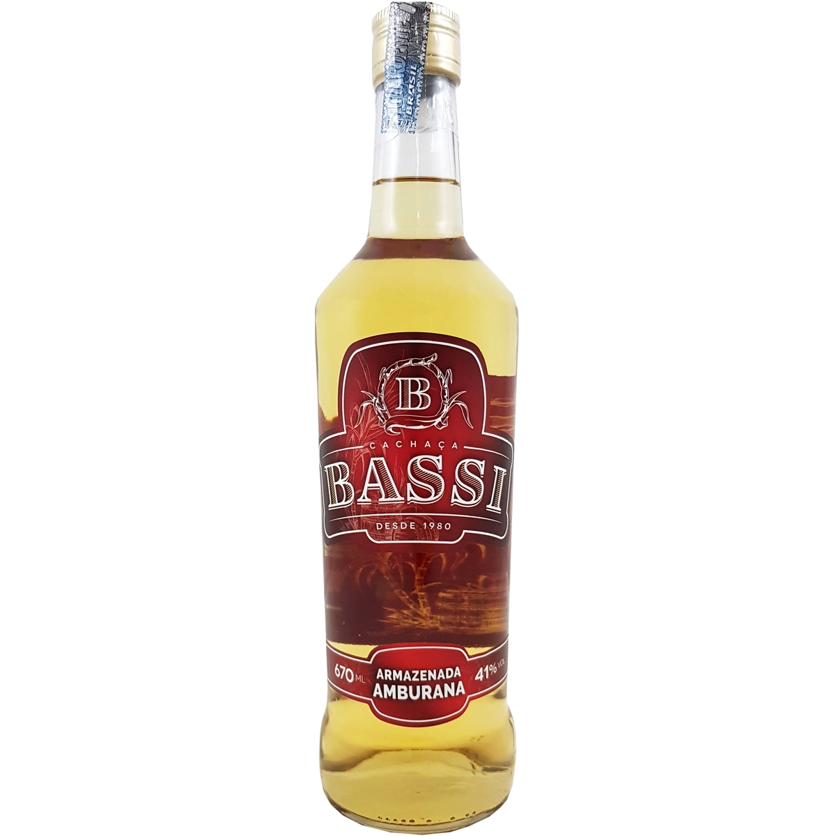 Cachaça Bassi Amburana 670ml