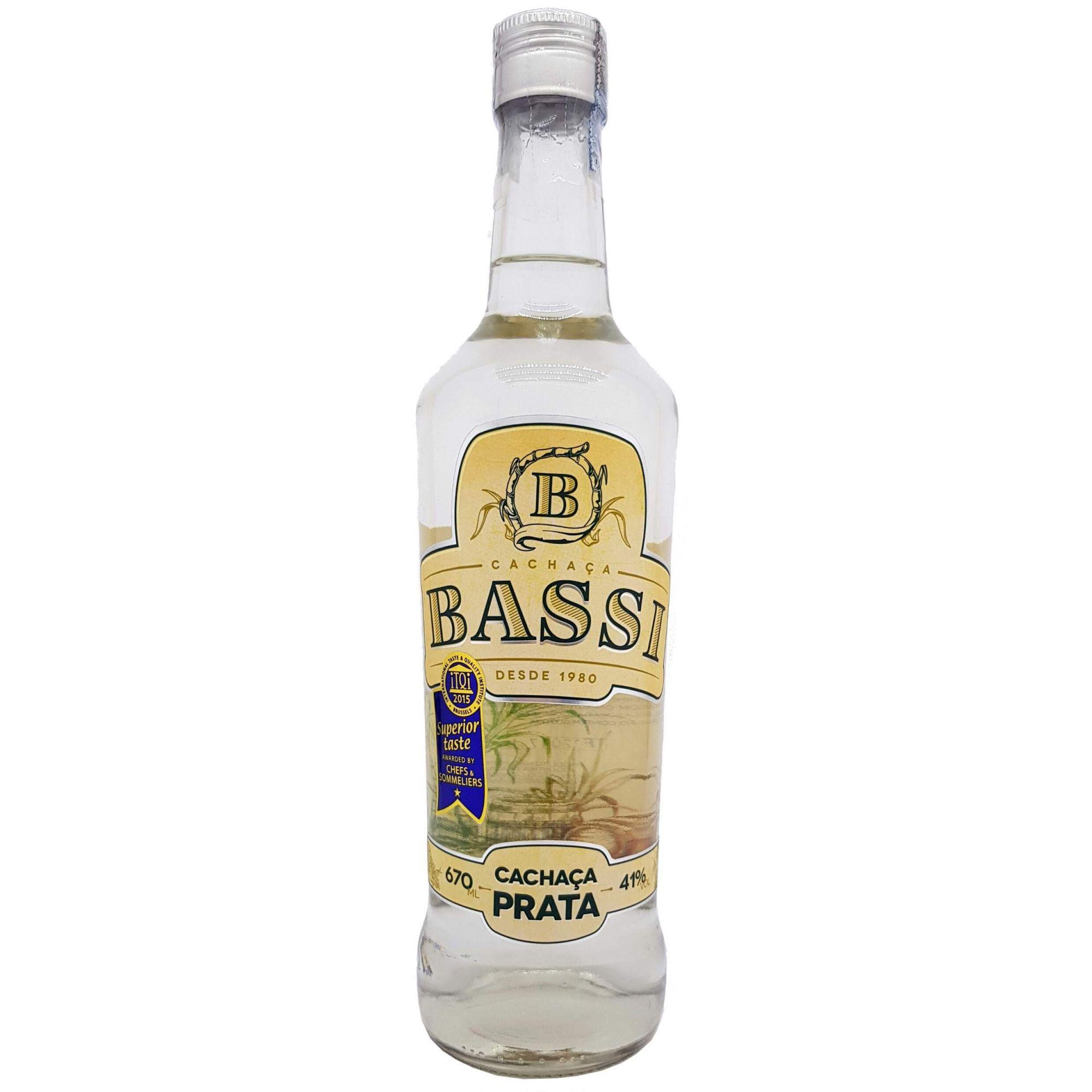 Cachaça Bassi Prata 670ml