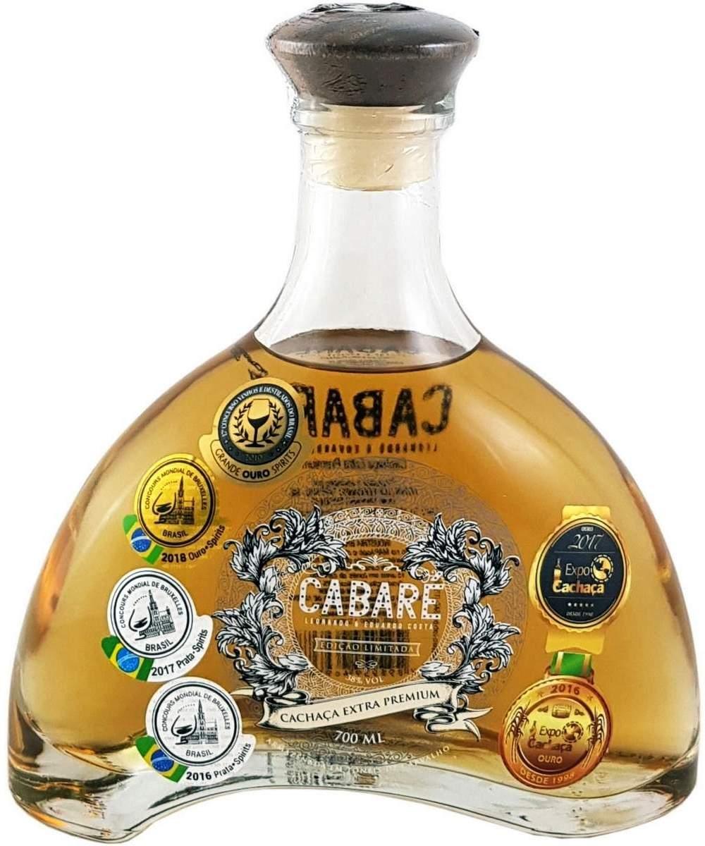 Cachaça Cabaré Extra Premium 15 Anos Dom Tápparo 700ml