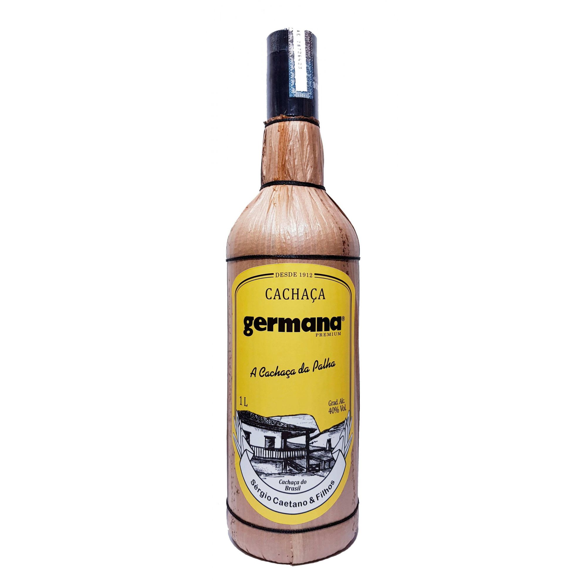 Cachaça Germana Palha Tradicional 1000ml