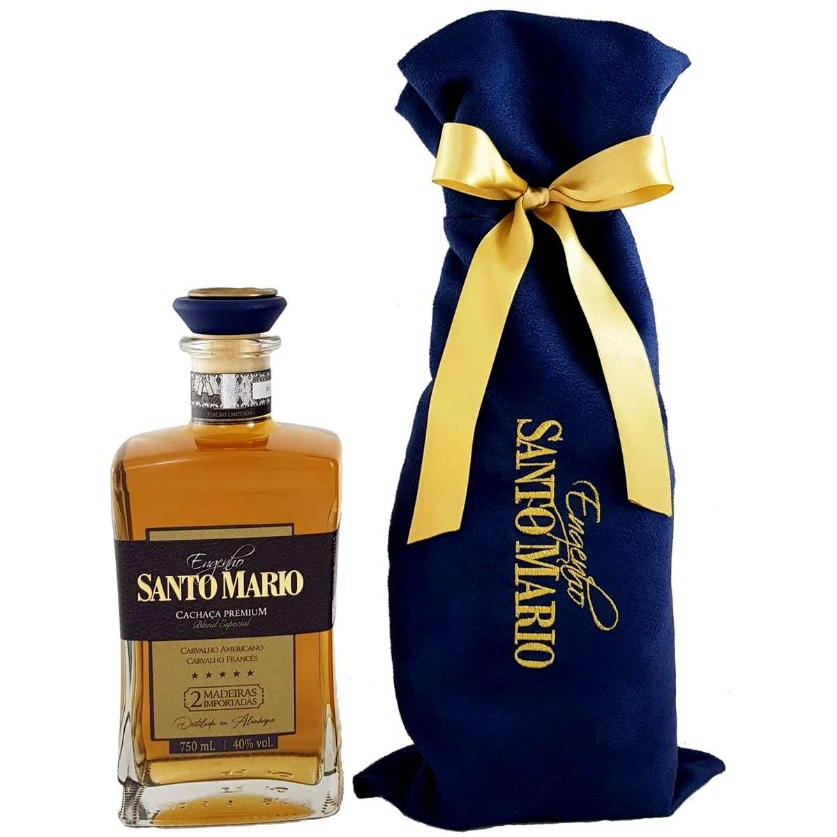 Cachaça Santo Mario Extra Premium 2 Madeiras Importadas 750ml