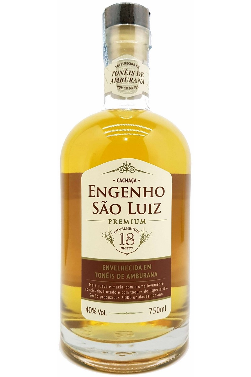 Cachaça São Luiz Premium Amburana 750ml
